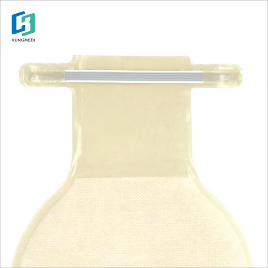 Single transparent drainable colostomy bag