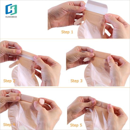 Single side non-woven fabric colostomy bag